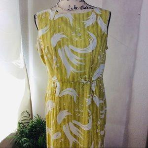 Dresses & Skirts - Vintage Rare Princess Peggy Yellow Shift Dress L